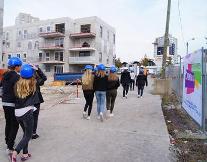 Visite de chantier lors des Coulisses du Bâtiment