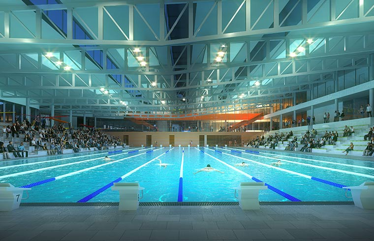Piscine Olympique, Lille, Rabot Dutilleul Construction