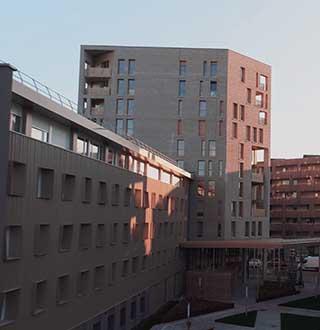 Lille-Cordonnier, réhabilitation de 120 chambres étudiantes et construction de 59 logements pour Partenord Habitat